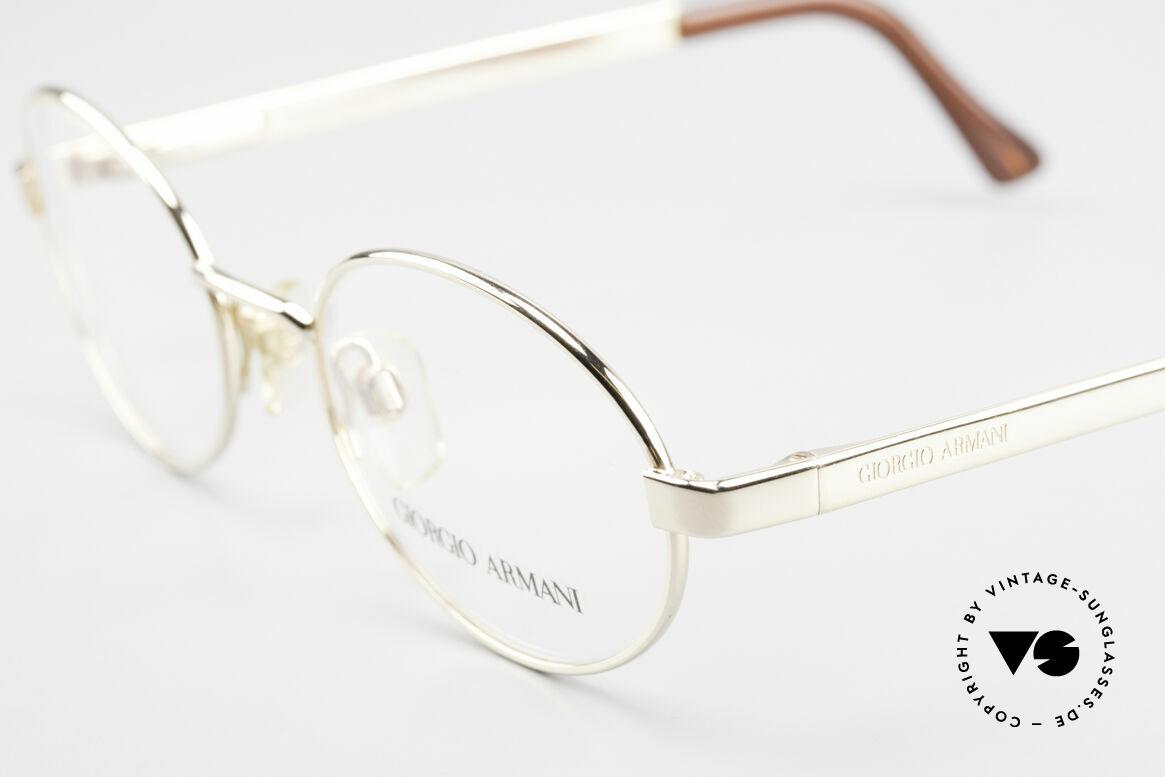 Giorgio Armani 257 Designerbrille Oval Vintage, ungetragen (wie alle unsere 90er GA Brillenklassiker), Passend für Herren und Damen