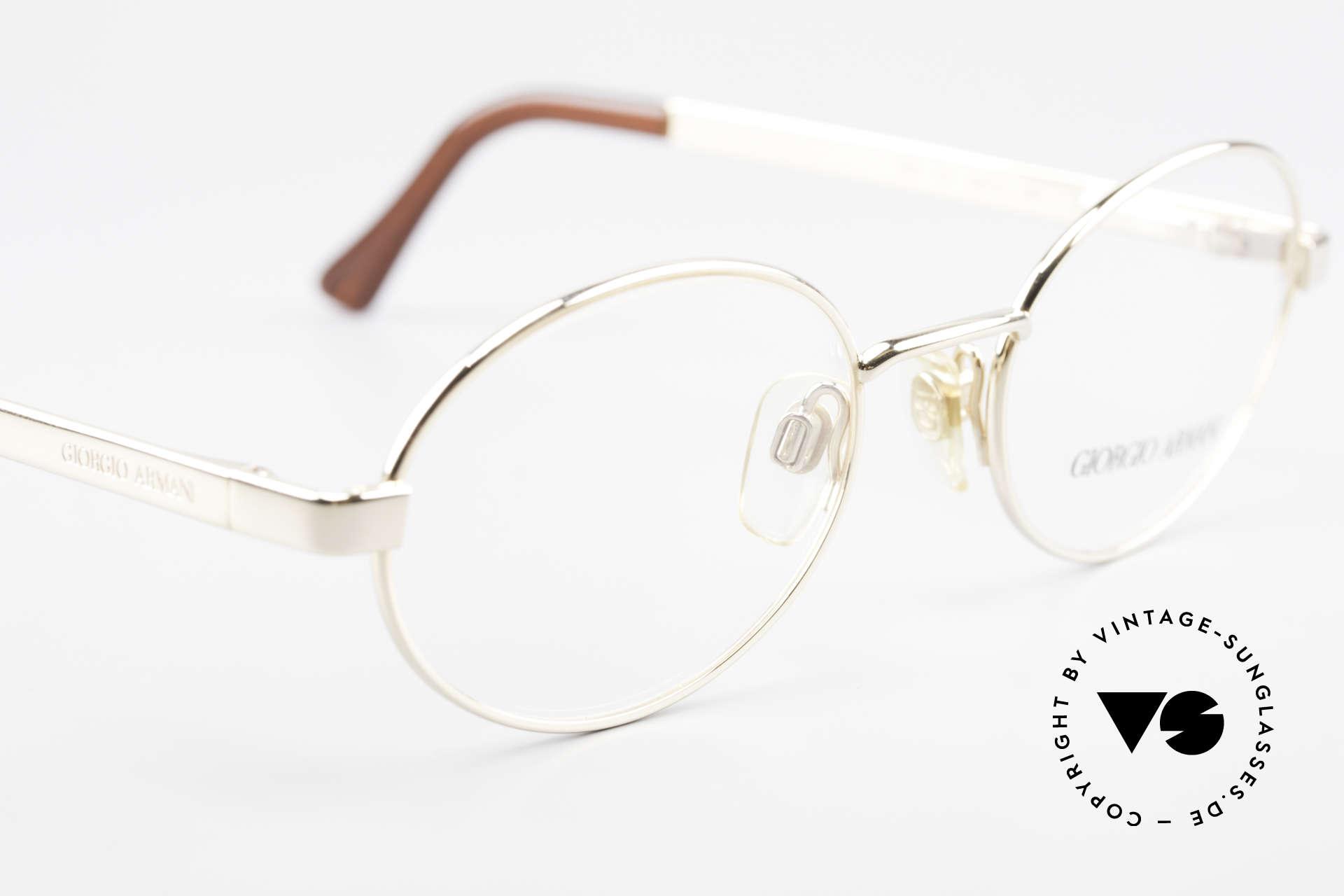 Giorgio Armani 257 Designerbrille Oval Vintage, keine aktuelle Kollektion, sondern alte Originalware!, Passend für Herren und Damen
