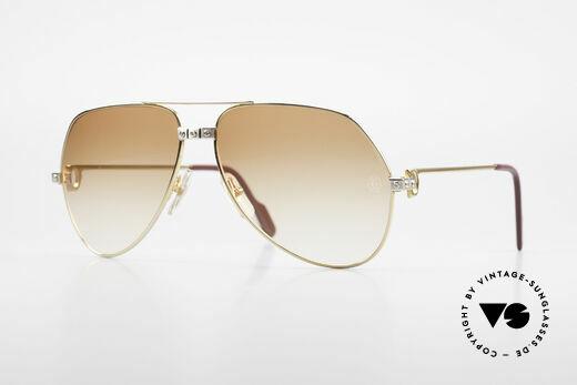 Cartier Vendome Santos - L Luxus Diamanten Sonnenbrille Details