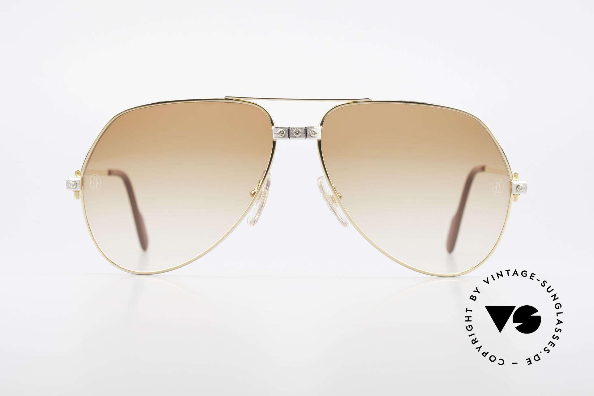 Cartier Vendome Santos - L Luxus Diamanten Sonnenbrille, extrem kostbar veredelte Fassung für noch mehr Luxus, Passend für Herren