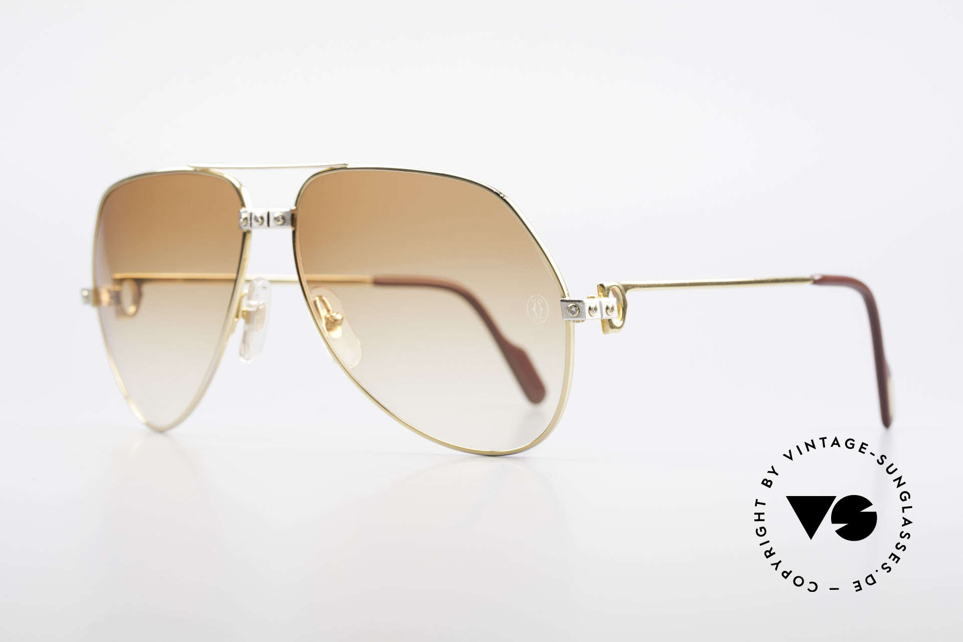 Cartier Vendome Santos - L Luxus Diamanten Sonnenbrille, Santos-Schauben wurden durch echte Diamanten ersetzt, Passend für Herren