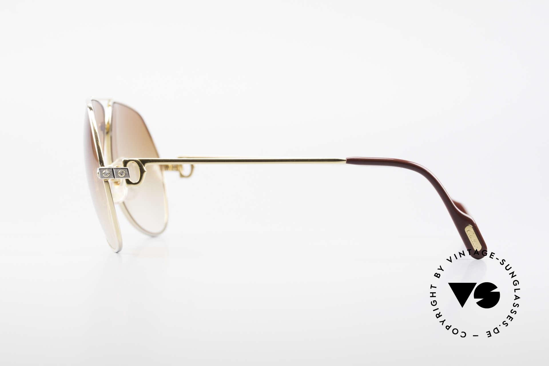 Cartier Vendome Santos - L Luxus Diamanten Sonnenbrille, zudem original Cartier Sonnengläser (mit Cartier Logo), Passend für Herren