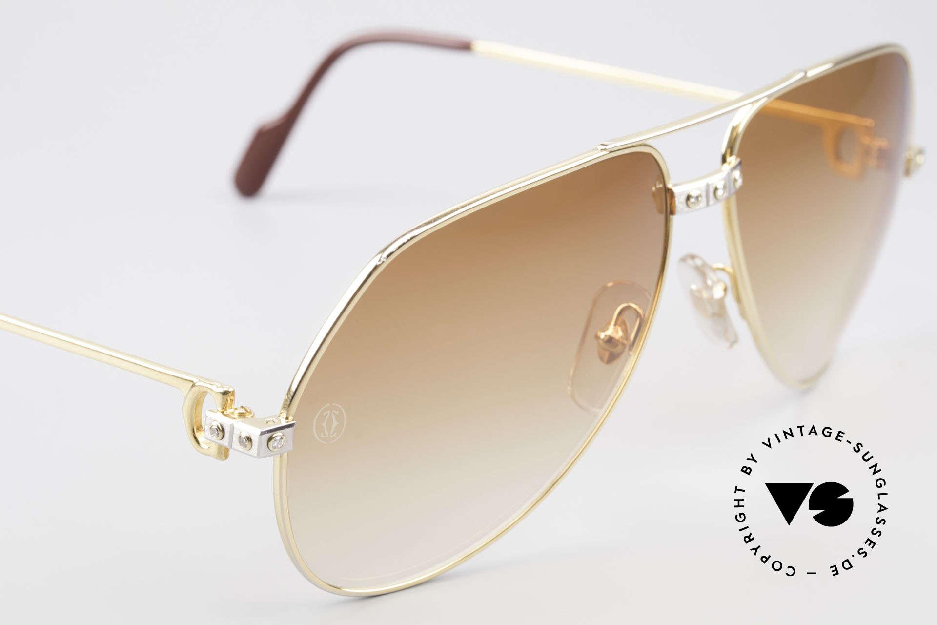 Cartier Vendome Santos - L Luxus Diamanten Sonnenbrille, auf Kundenwunsch veredeltes Original und somit Unikat, Passend für Herren