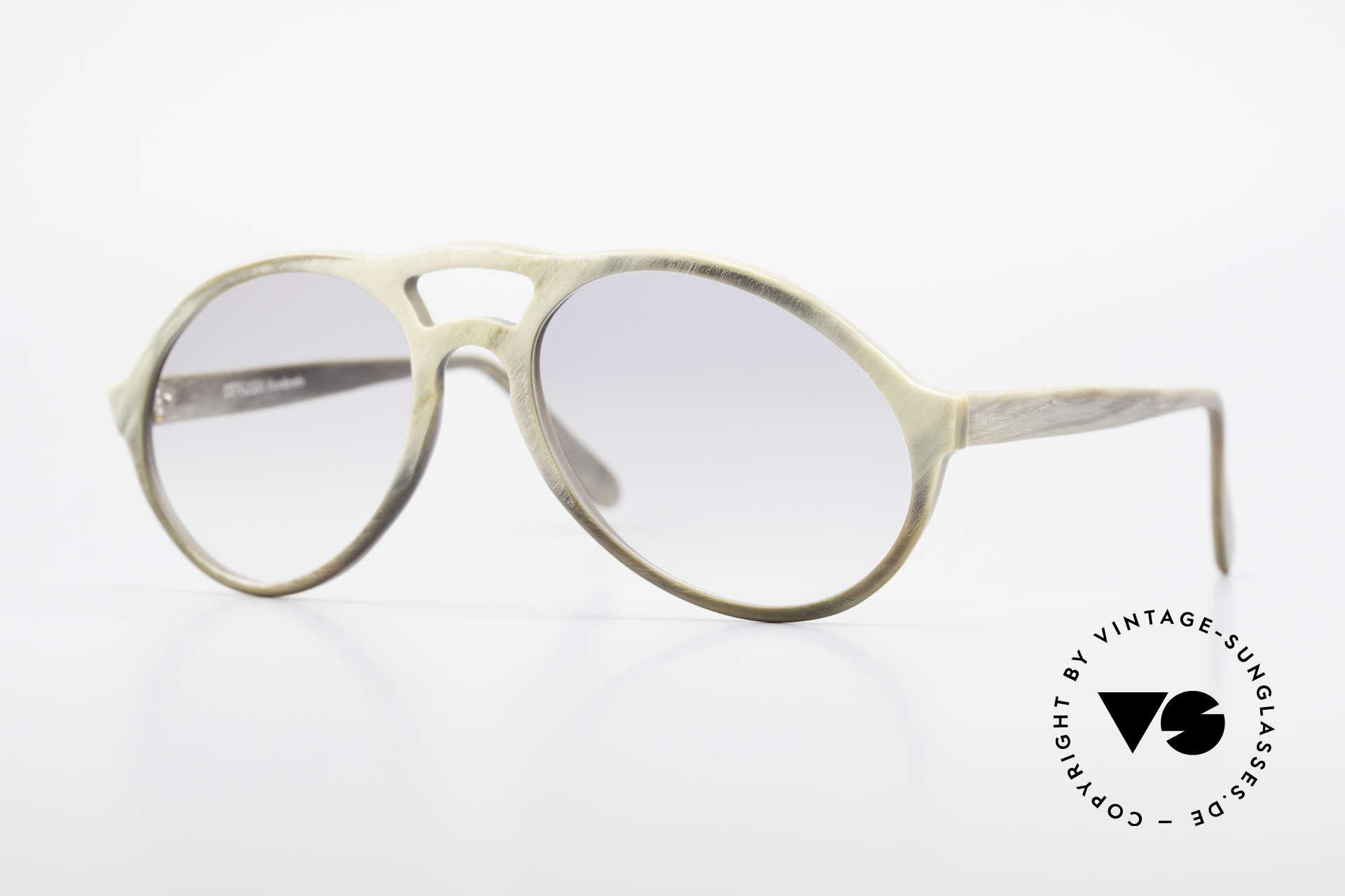 Bugatti 55020 Echt Büffelhorn Sonnenbrille, kostbare vintage BUGATTI Sonnenbrille in Größe 54-18, Passend für Herren