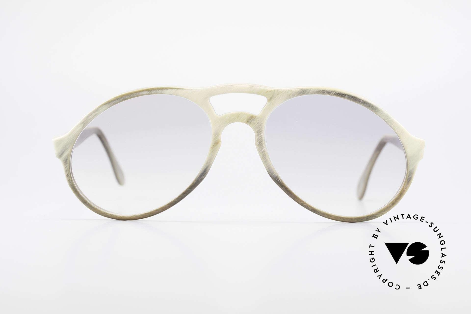 Bugatti 55020 Echt Büffelhorn Sonnenbrille, extrem seltenes Designerstück aus echtem Büffelhorn, Passend für Herren
