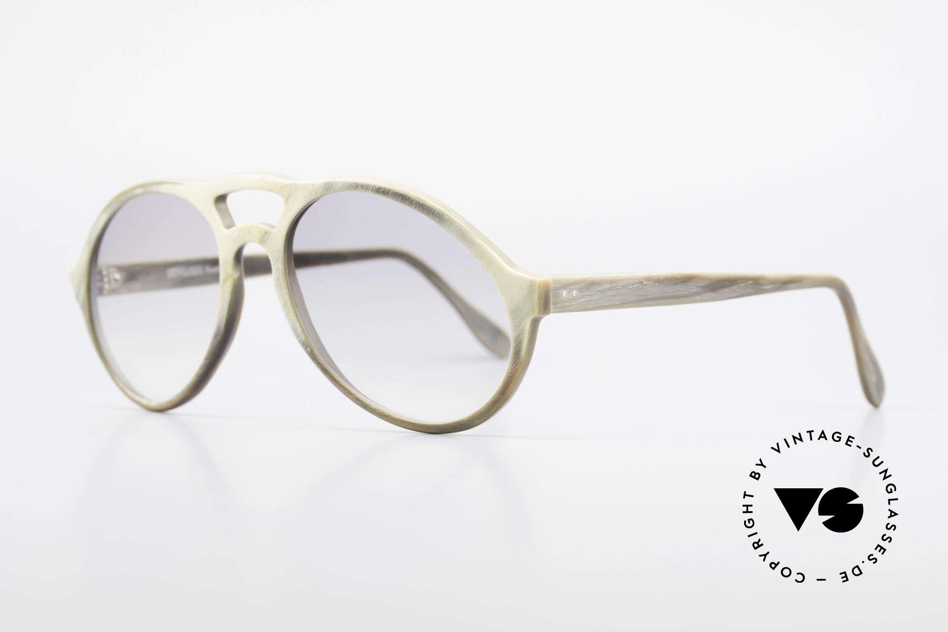 Bugatti 55020 Echt Büffelhorn Sonnenbrille, echte Rarität (in Handarbeit gefertigt); Sammlerstück!, Passend für Herren