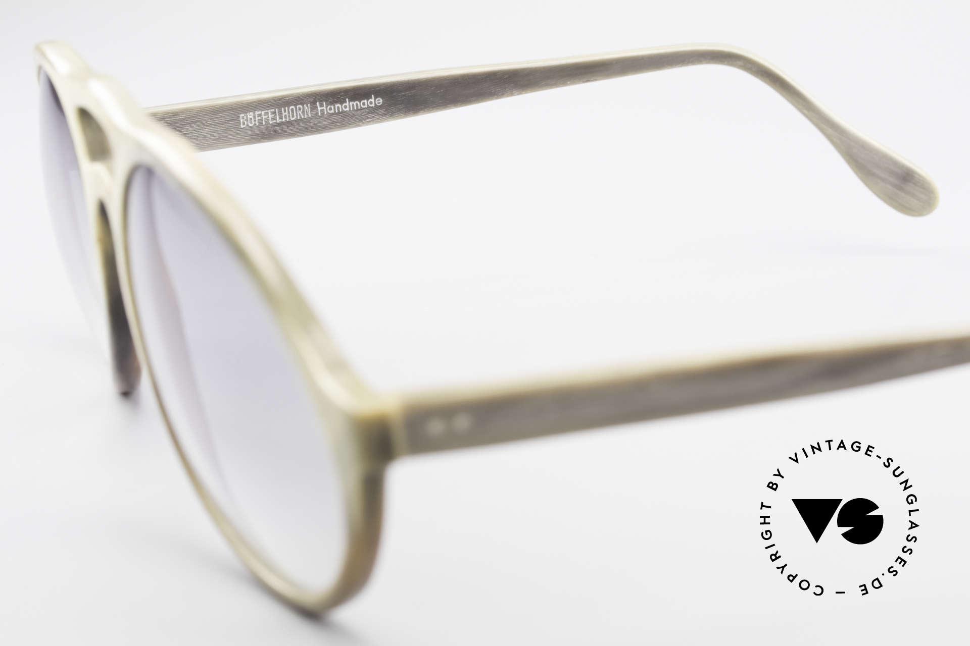 Bugatti 55020 Echt Büffelhorn Sonnenbrille, ein ungetragenes Original der späten 70er / frühen 80er, Passend für Herren