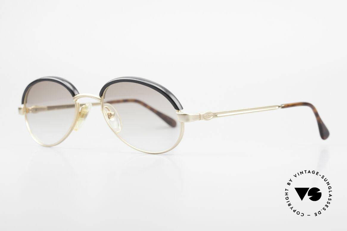 Bugatti 03180 Alte Klassische Bugatti Brille, beste Materialien in Top-Verarbeitung; vergoldet, Passend für Herren