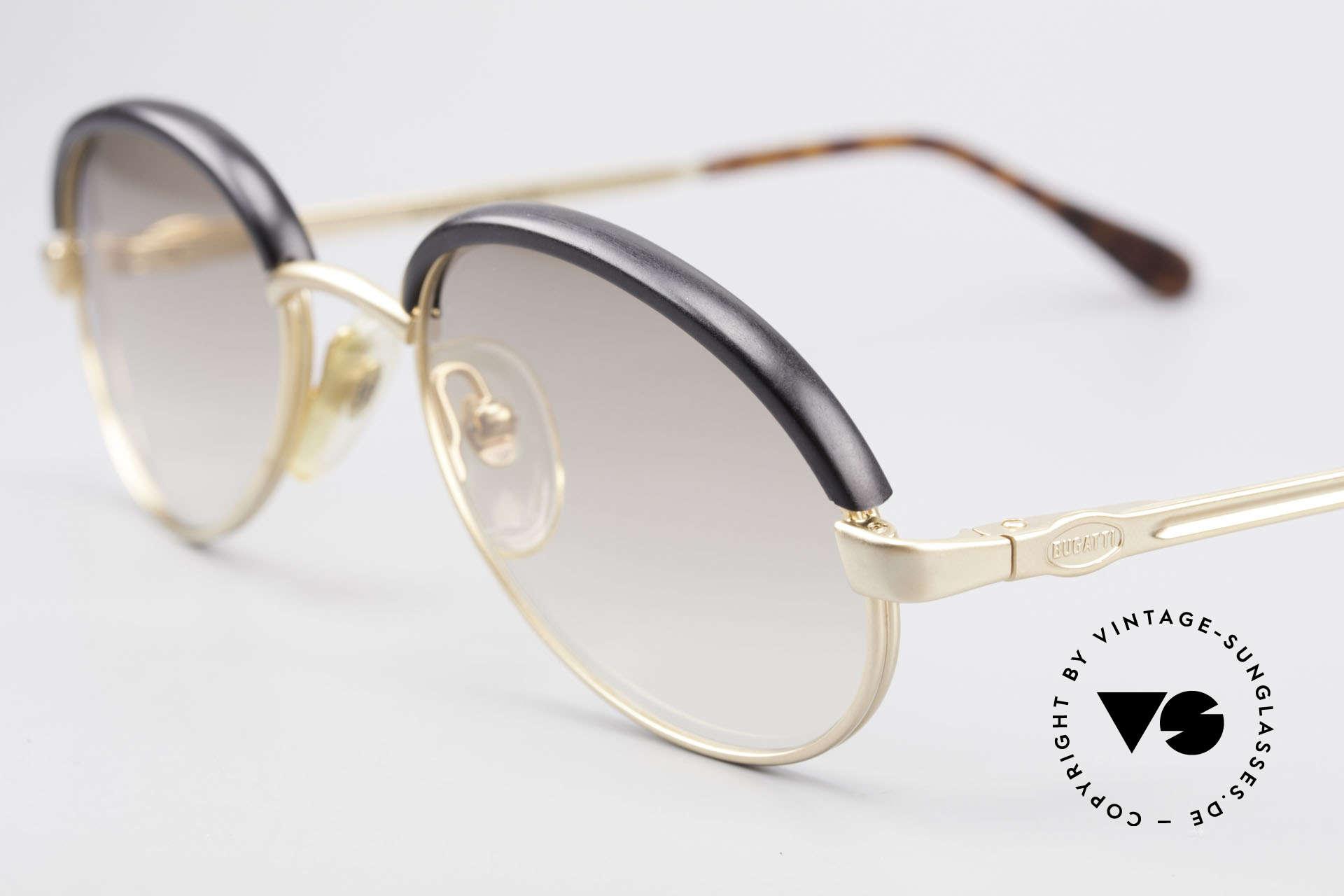 Bugatti 03180 Alte Klassische Bugatti Brille, zudem hoher Komfort/Passform dank Federgelenke, Passend für Herren