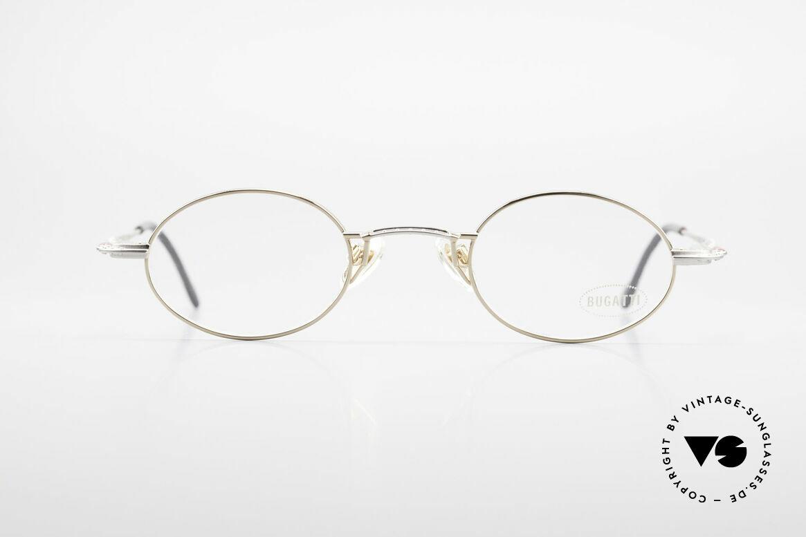 Bugatti 23194 Ovale Luxus Brillenfassung, sehr elegante vintage Brillenfassung von Bugatti, Passend für Herren