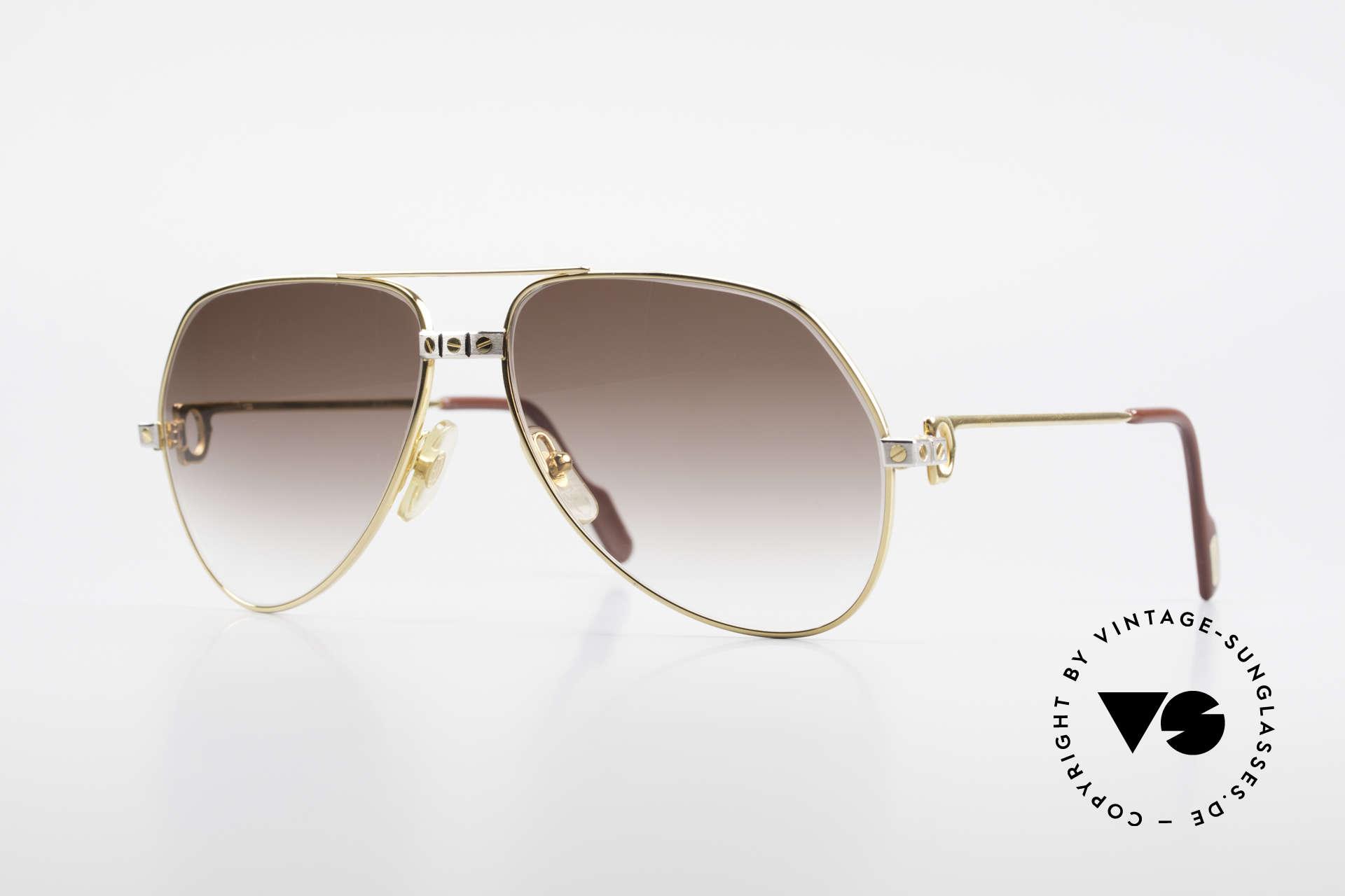 Cartier Vendome Santos - M Luxus Aviator Sonnenbrille, Vendome = das berühmteste Brillendesign von CARTIER, Passend für Herren und Damen