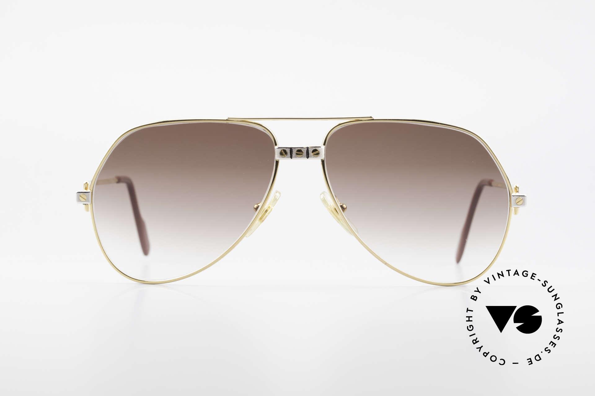 Cartier Vendome Santos - M Luxus Aviator Sonnenbrille, wurde 1983 veröffentlicht und dann bis 1997 produziert, Passend für Herren und Damen