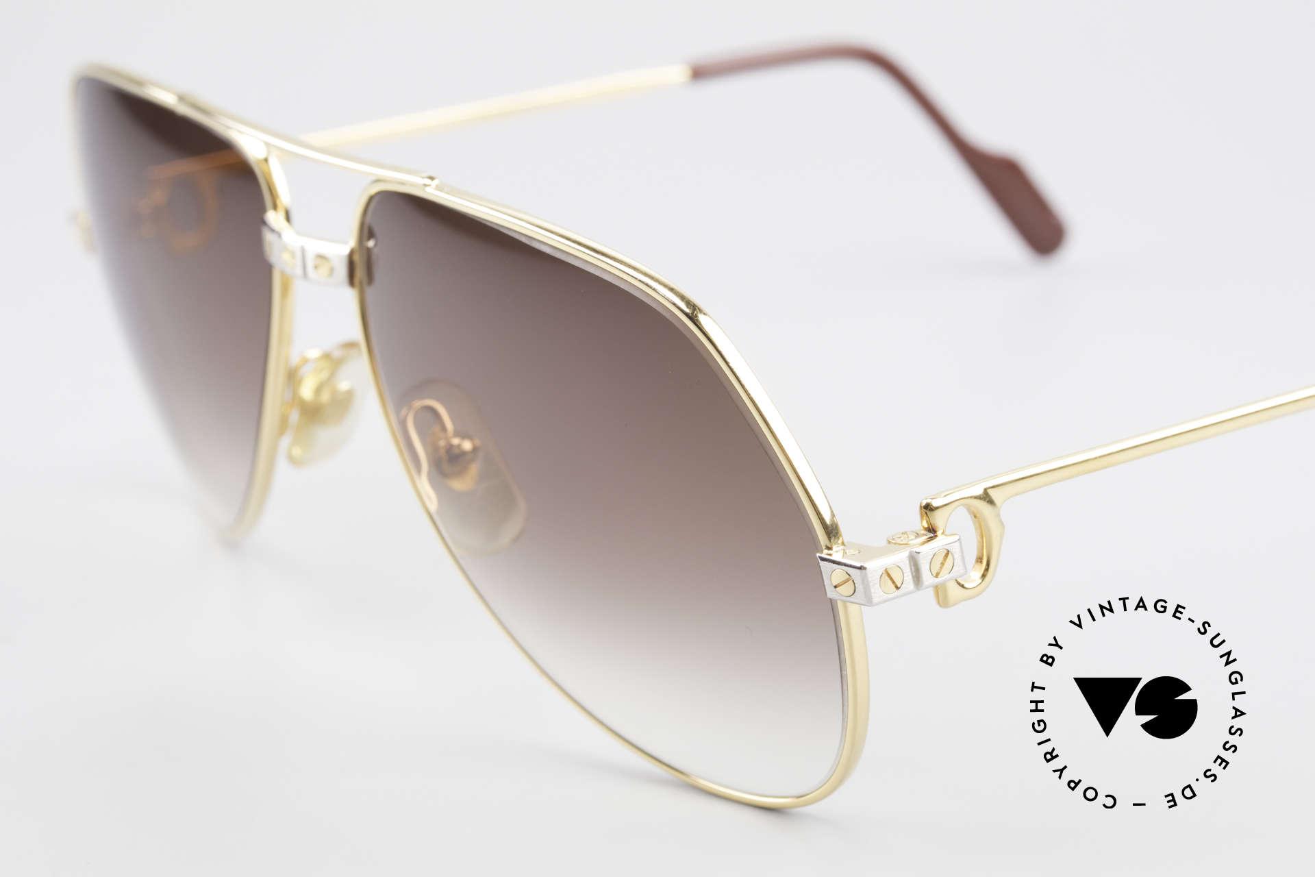 Cartier Vendome Santos - M Luxus Aviator Sonnenbrille, 2.hand in einem großartigen Zustand + Etui von Genta, Passend für Herren und Damen