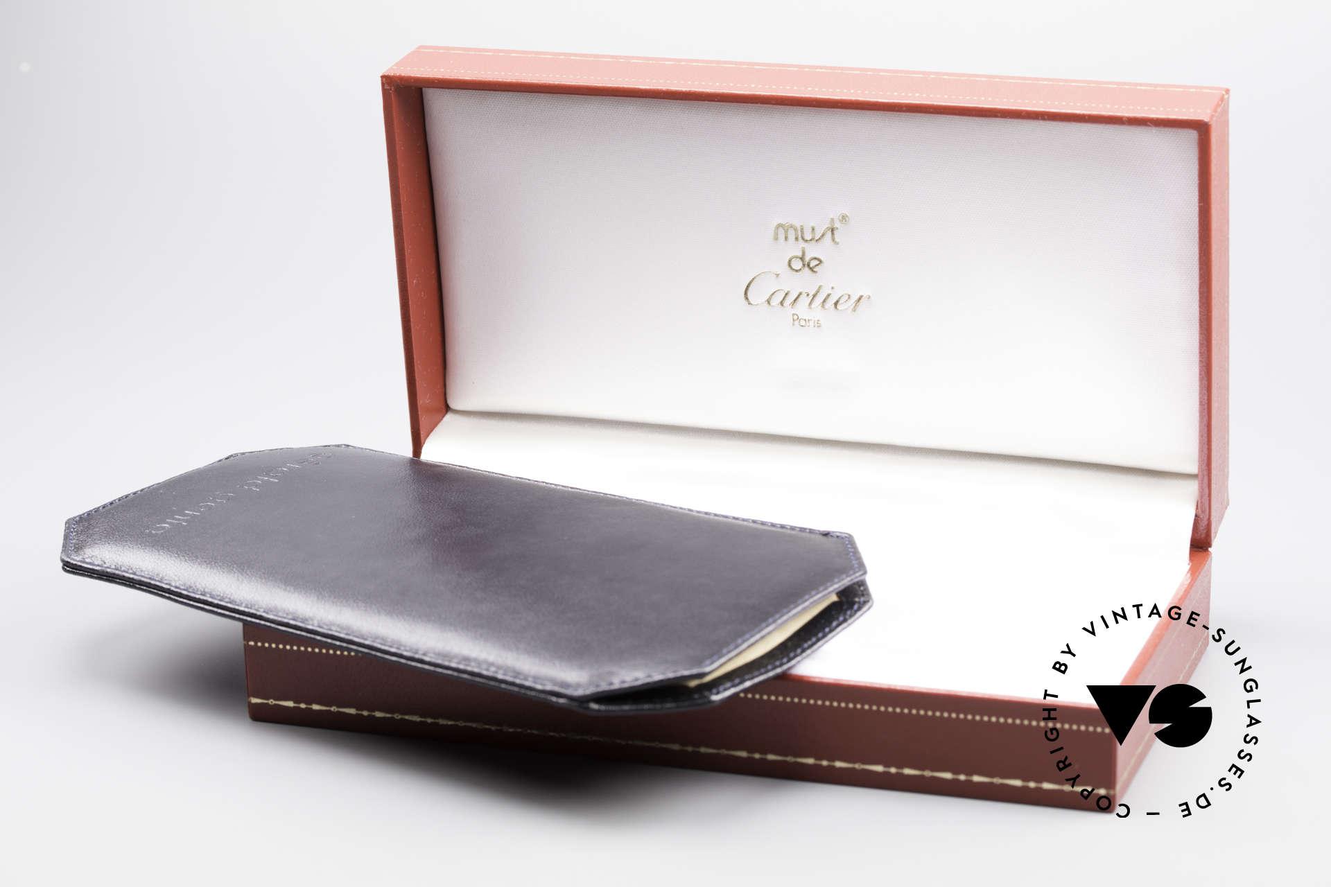 Cartier Vendome Santos - M Luxus Aviator Sonnenbrille, Größe: medium, Passend für Herren und Damen