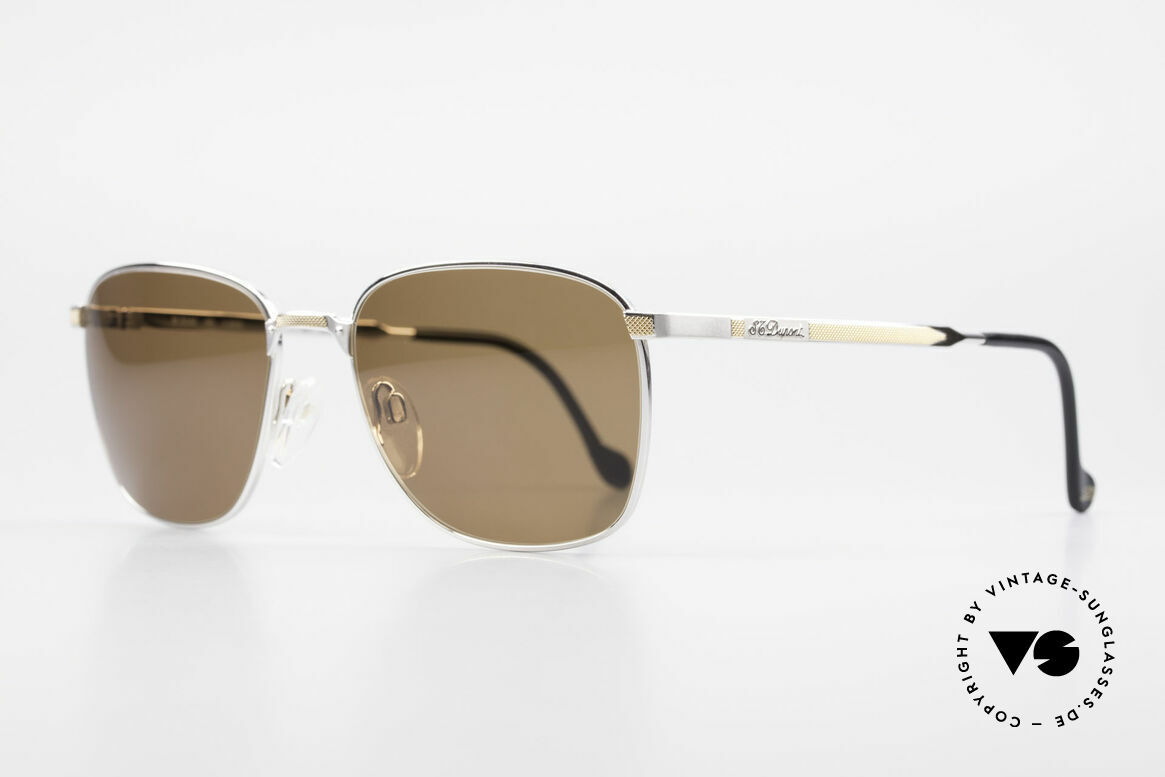 S.T. Dupont D048 90er Luxus Sonnenbrille 23kt, äußerst edel (S.T. Dupont Modelle sind 23kt vergoldet), Passend für Herren