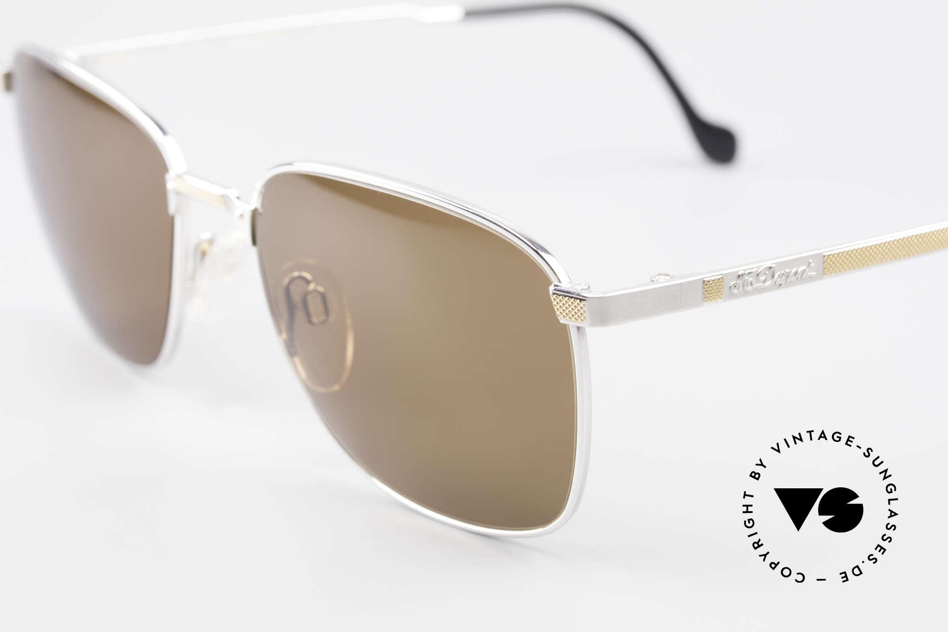 S.T. Dupont D048 90er Luxus Sonnenbrille 23kt, inkl. orig. St. Dupont Etui, Putztuch, Zertifikat & Box, Passend für Herren