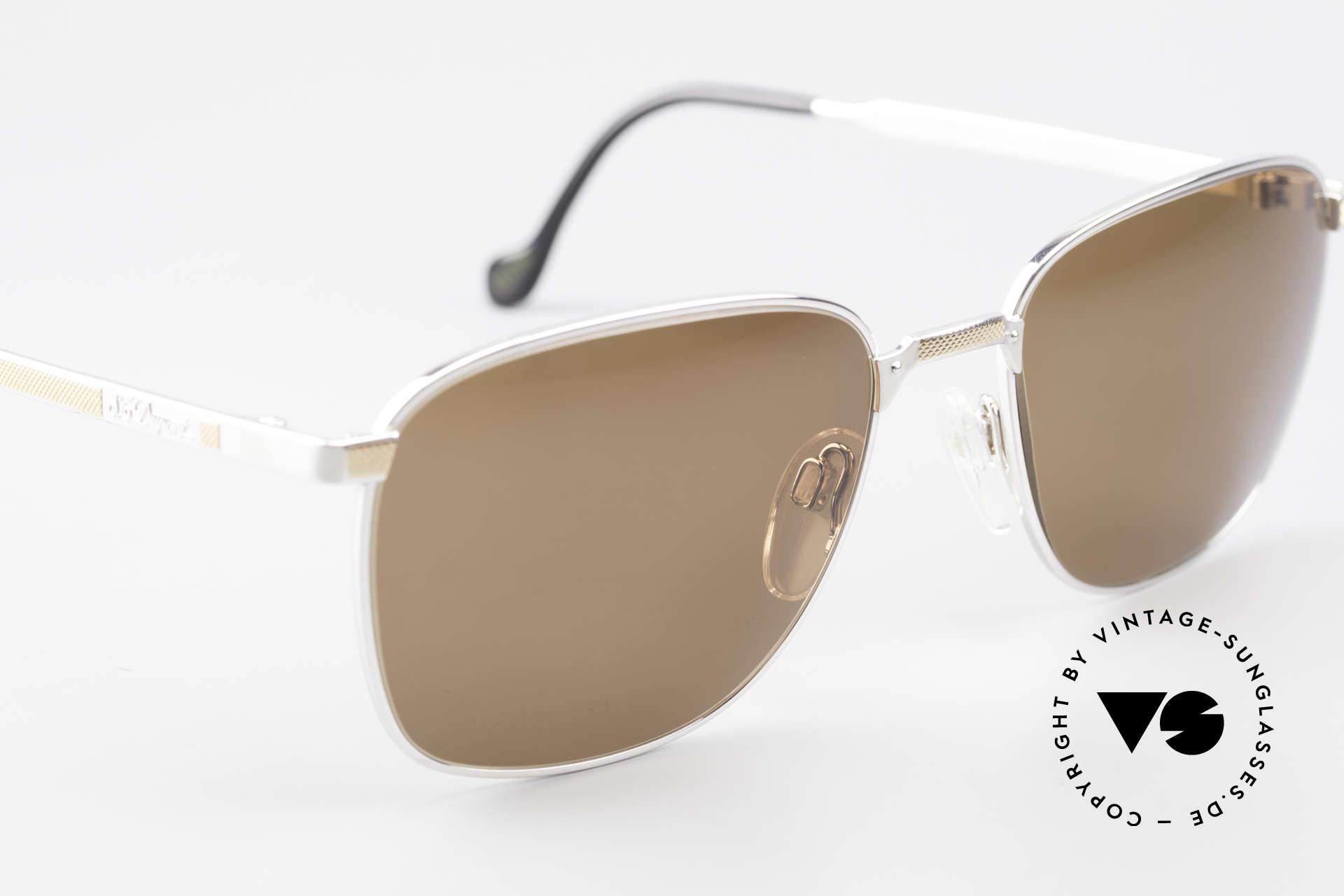 S.T. Dupont D048 90er Luxus Sonnenbrille 23kt, ungetragen (wie all unsere Dupont vintage Fassungen), Passend für Herren