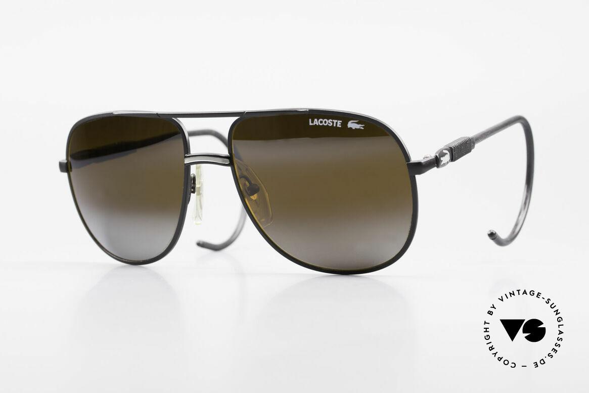 Lacoste 101S Sportliche Aviator Brille XL, vintage Lacoste 101 Sonnenbrille aus den 80ern/90ern, Passend für Herren