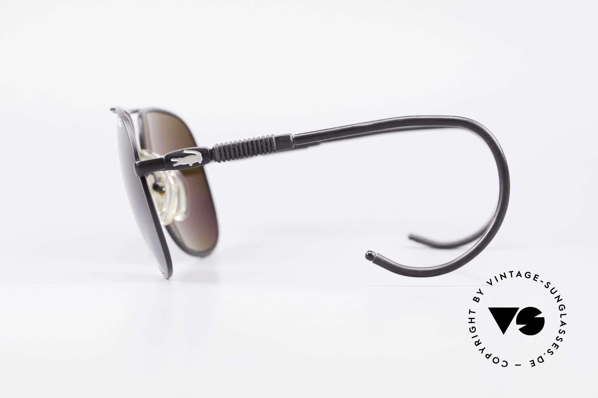 """Lacoste 101S Sportliche Aviator Brille XL, dieses Modell ist die """"SPORT""""-Version mit Sportbügeln, Passend für Herren"""