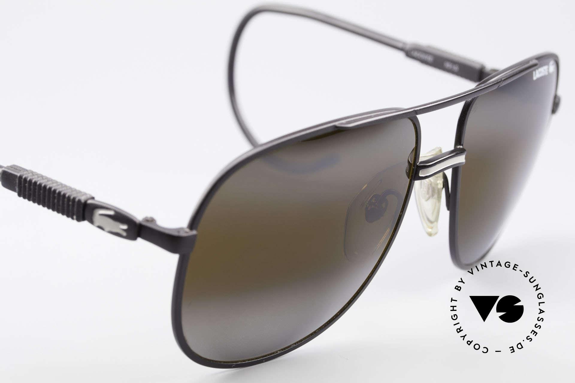Lacoste 101S Sportliche Aviator Brille XL, ungetragenes Einzelstück mit original Etui von Lacoste, Passend für Herren