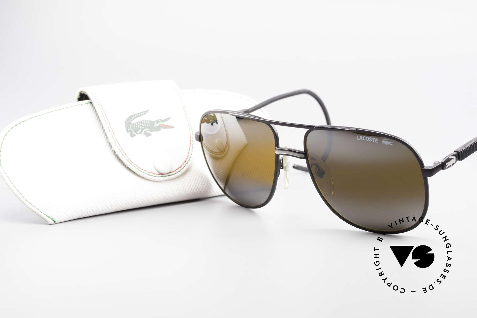 Lacoste 101S Sportliche Aviator Brille XL, Größe: large, Passend für Herren