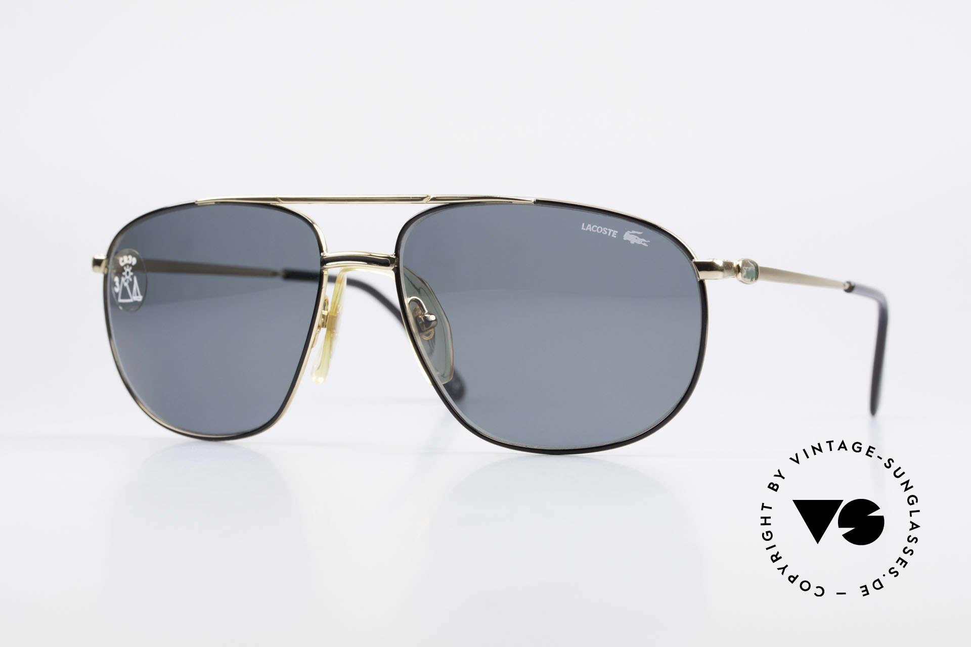 Lacoste 121 XL Sport Sonnenbrille Herren, hochwertige Lacoste XL vintage Sonnenbrille, Passend für Herren