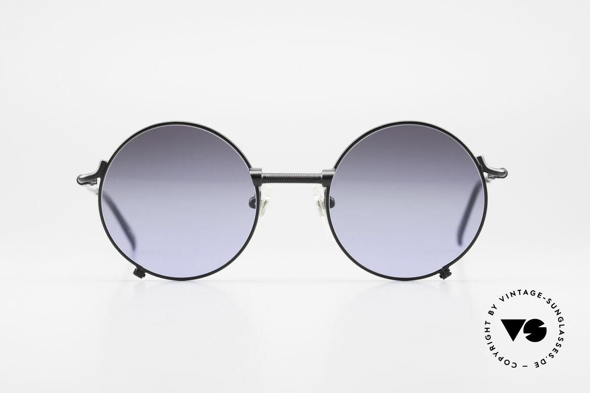 Jean Paul Gaultier 55-7162 Runde Vintage Sonnenbrille, altes 90er Jahre Design von Jean Paul Gaultier, Passend für Herren und Damen