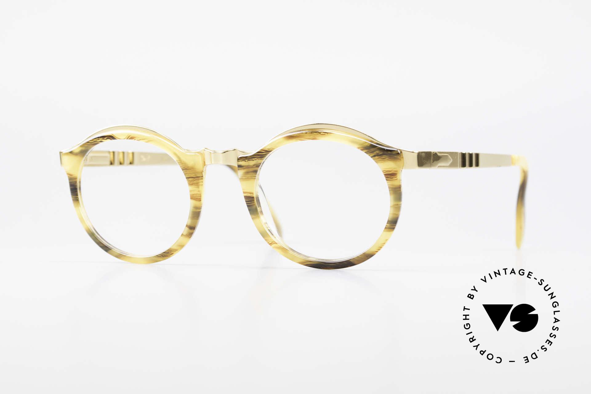 Persol Ivy Gold Plated Panto Brille Small, sehr elegante Persol vintage Brille der 90er Jahre, Passend für Herren und Damen