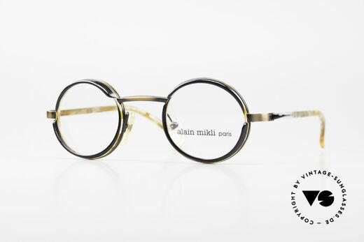 Alain Mikli 2150 / 38025 Runde Vintage Designer Brille Details