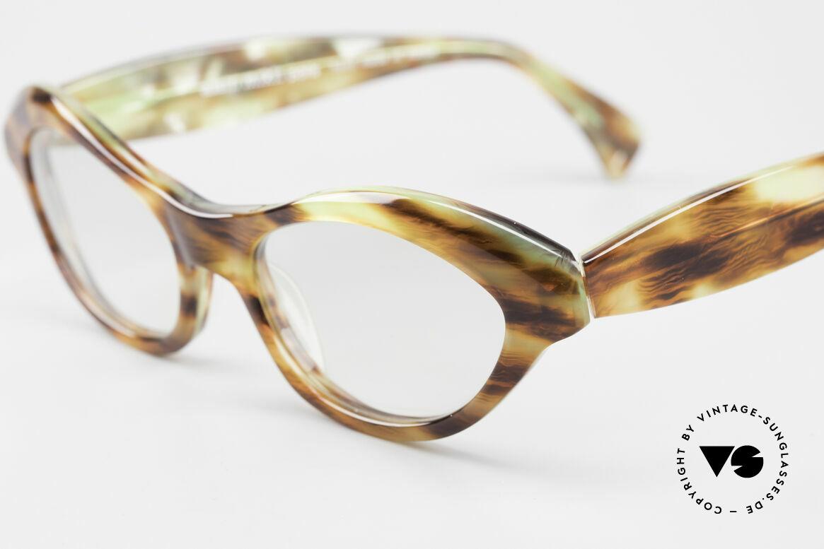 Alain Mikli 2112 / 1036 80er Cateye Style Damen Brille, zudem tolle Verarbeitungsqualität durch Handarbeit, Passend für Damen