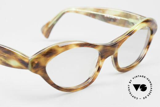 Alain Mikli 2112 / 1036 80er Cateye Style Damen Brille, KEINE Retro Brille, sondern ein Original der 90er!, Passend für Damen