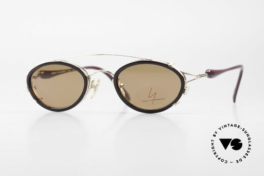 Yohji Yamamoto 51-7210 90er No Retro Clip-On Brille Details