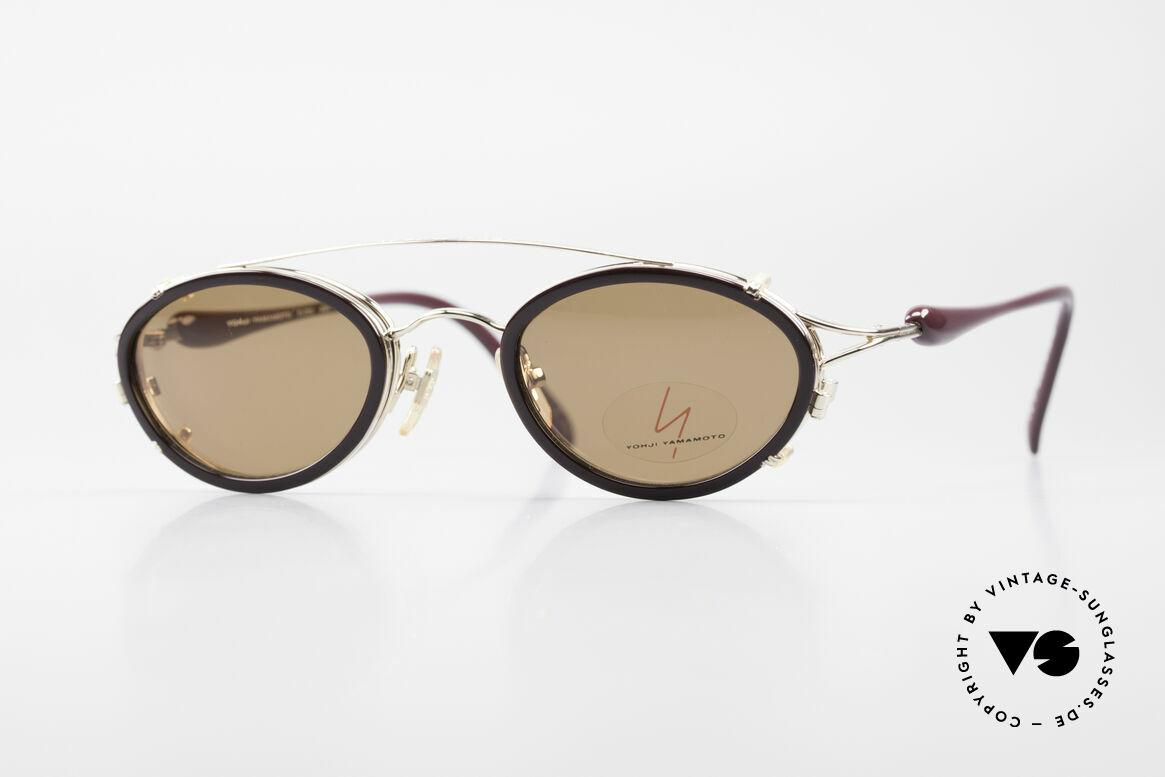 Yohji Yamamoto 51-7210 90er No Retro Clip-On Brille, 90er Jahre vintage Sonnenbrille von Yohji Yamamoto, Passend für Herren und Damen