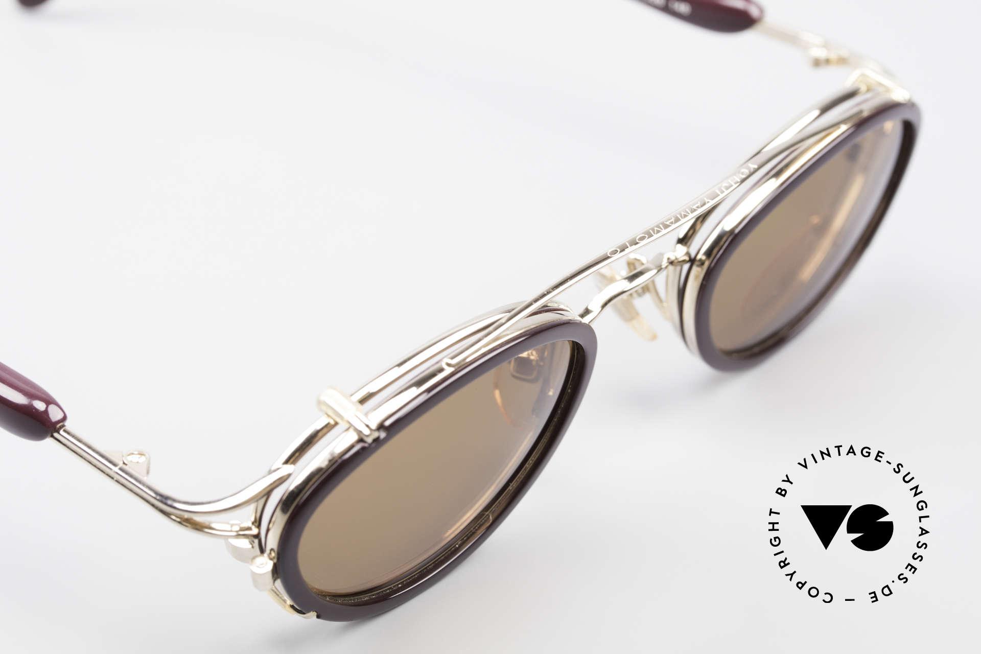 Yohji Yamamoto 51-7210 90er No Retro Clip-On Brille, ein altes Yamamoto Original; KEINE neue Retrobrille!, Passend für Herren und Damen