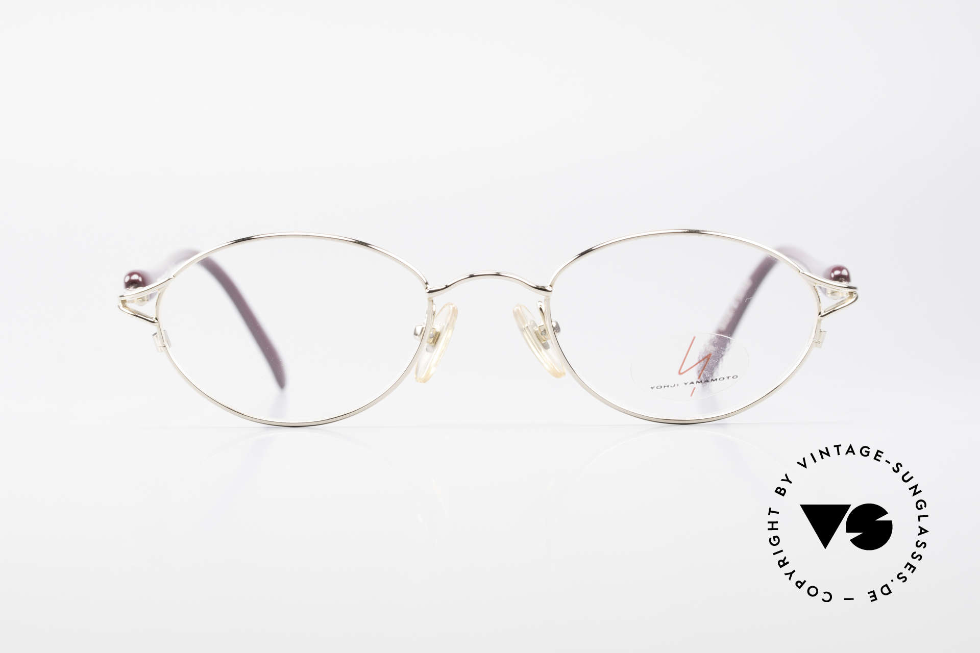 Yohji Yamamoto 51-7210 90er No Retro Clip-On Brille, Größe: small, Passend für Herren und Damen