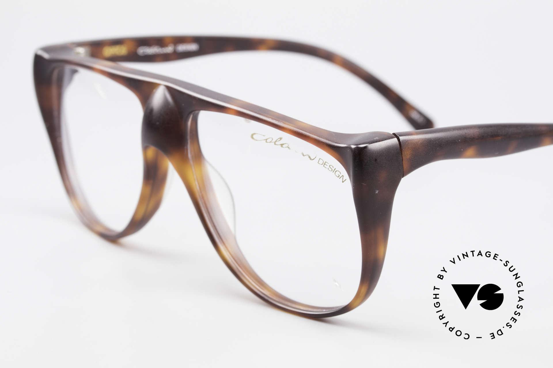 Colani 15-331 Schwungvolle Vintage Brille, natürlich ungetragen (wie alle unsere Colani Brillen), Passend für Herren