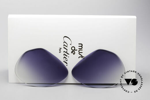 Cartier Vendome Lenses - L Sonnengläser Blau Verlauf Details