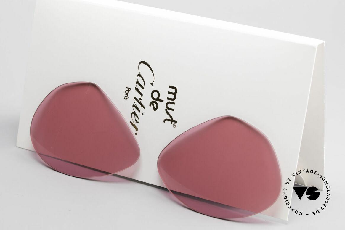 Cartier Vendome Lenses - L Sonnengläser Pink, neue CR39 UV400 Kunststoff-Gläser (100% UV Schutz), Passend für Herren