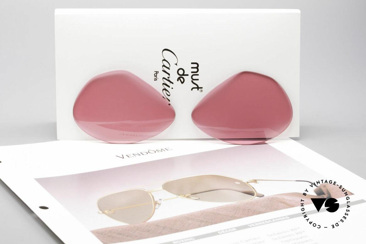 """Cartier Vendome Lenses - L Sonnengläser Pink, pink, um durch die """"rosarote Brille"""" sehen zu können ;), Passend für Herren"""