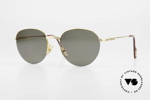 Cartier Colisee Runde Luxus Sonnenbrille Details