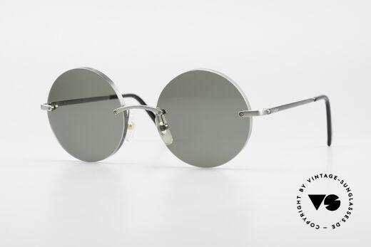 Cartier T-Eye Madison Runde Luxus Sonnenbrille Details