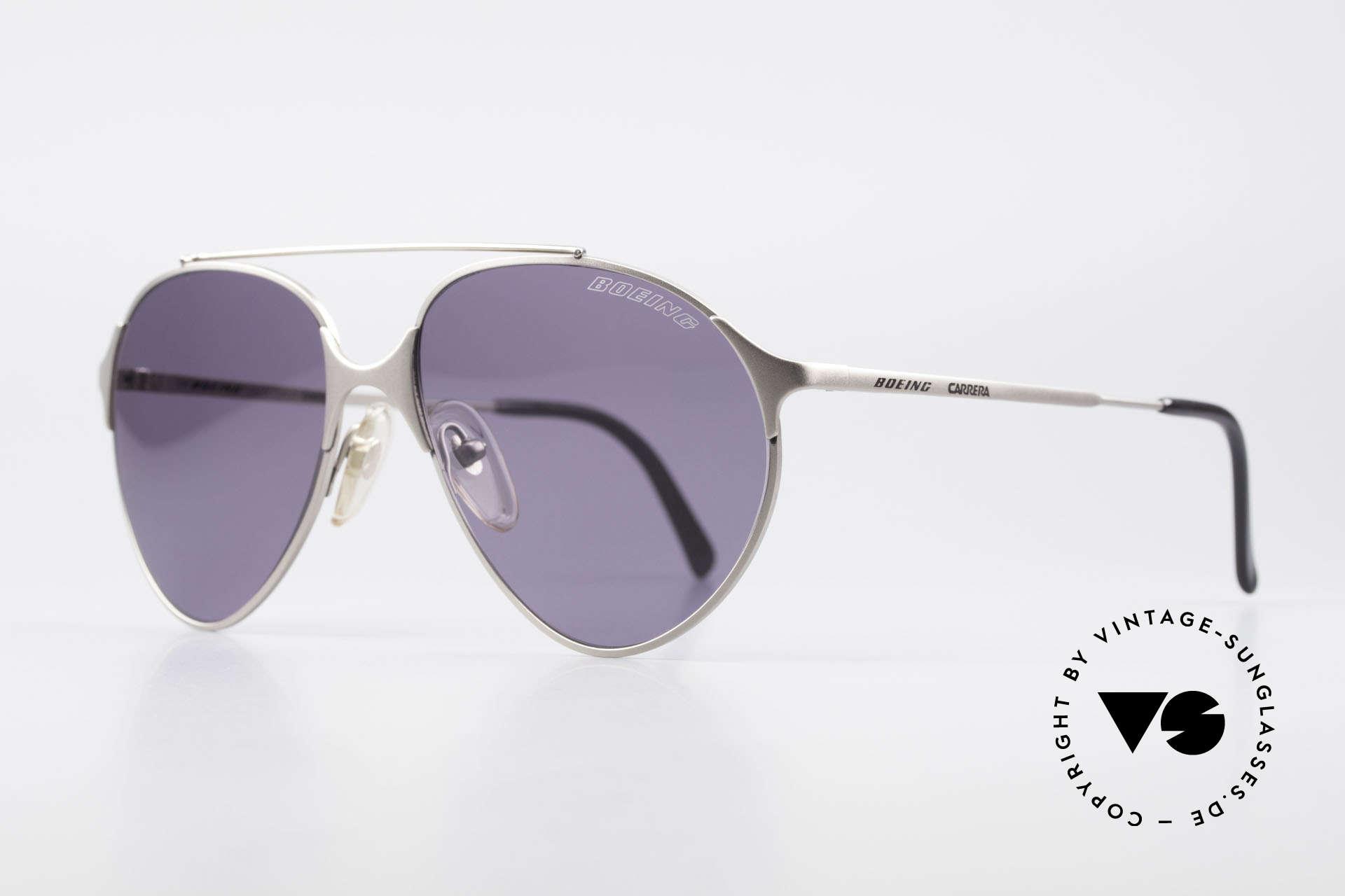 Boeing 5710 Titanium Aviator Brille 90er, Top Verarbeitung und hochwertige Gläser (100% UV), Passend für Herren