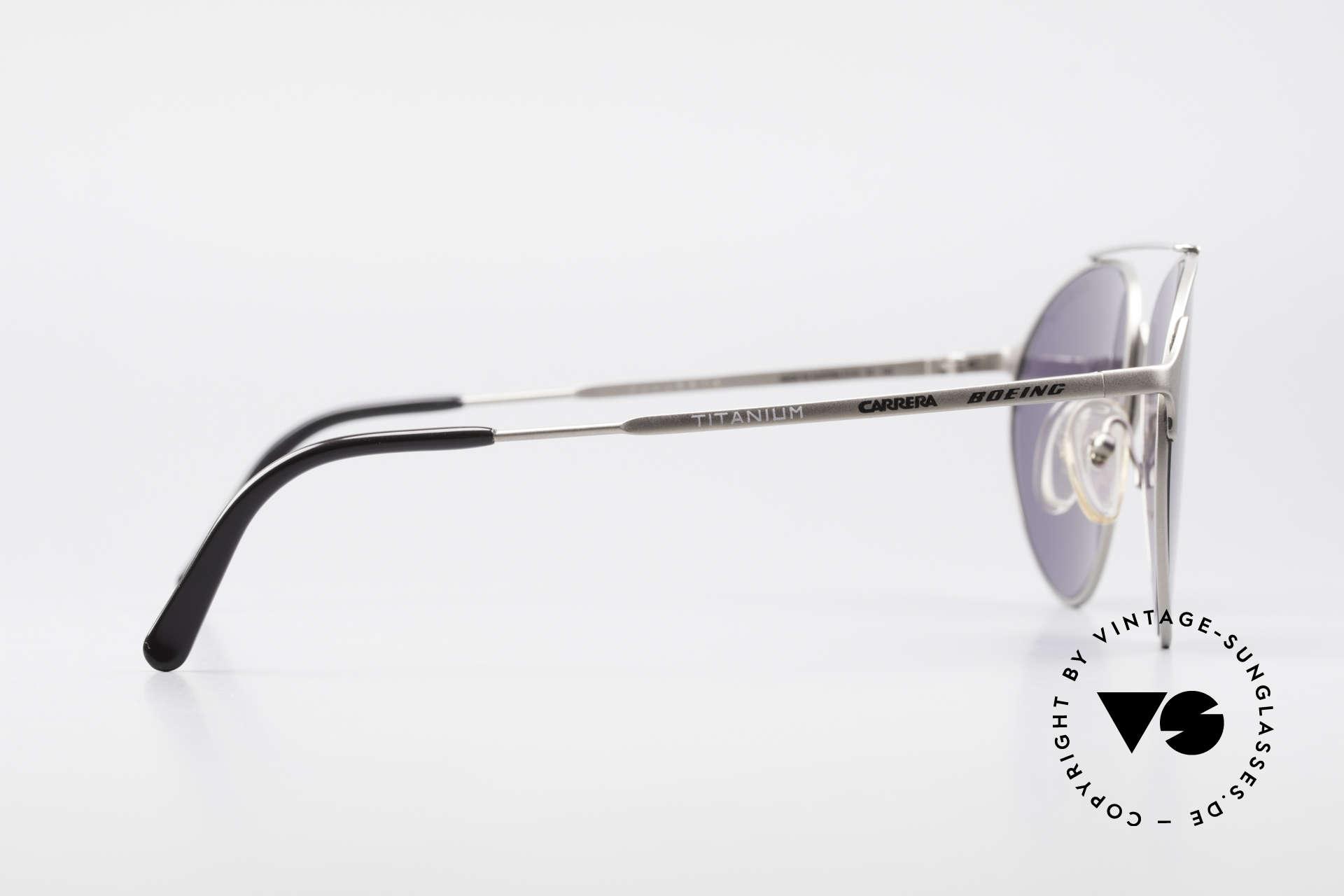 Boeing 5710 Titanium Aviator Brille 90er, KEINE RETROmode; sondern ein echtes altes Original, Passend für Herren