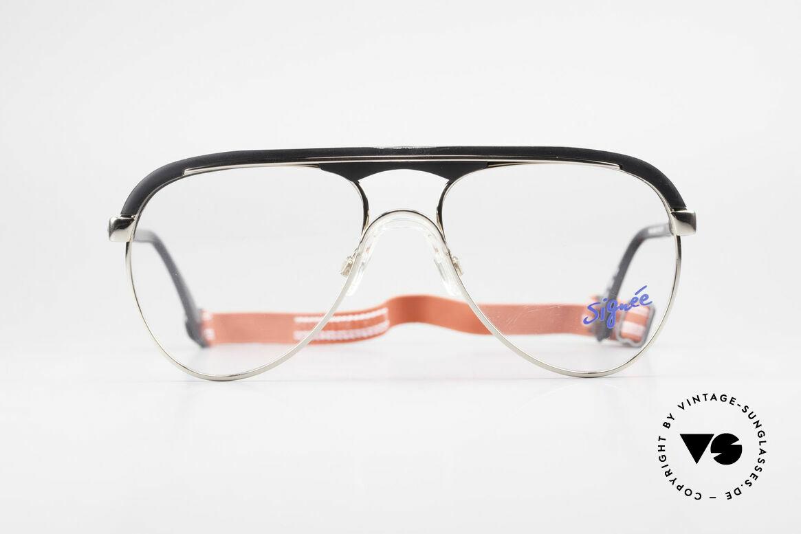 Metzler 0250 Echt Vintage 80er Sportbrille, alte Metzler Sportdesign-Brillenfassung der 1980er, Passend für Herren