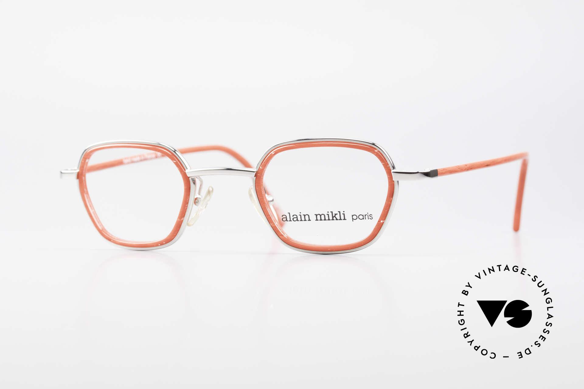 Alain Mikli 1642 / 1006 Vintage Brille In Mikli Rot, grandiose 1990er ALAIN Mikli Designer-Fassung, Passend für Damen