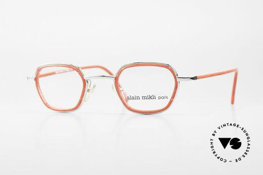 Alain Mikli 1642 / 1006 Vintage Brille In Mikli Rot Details