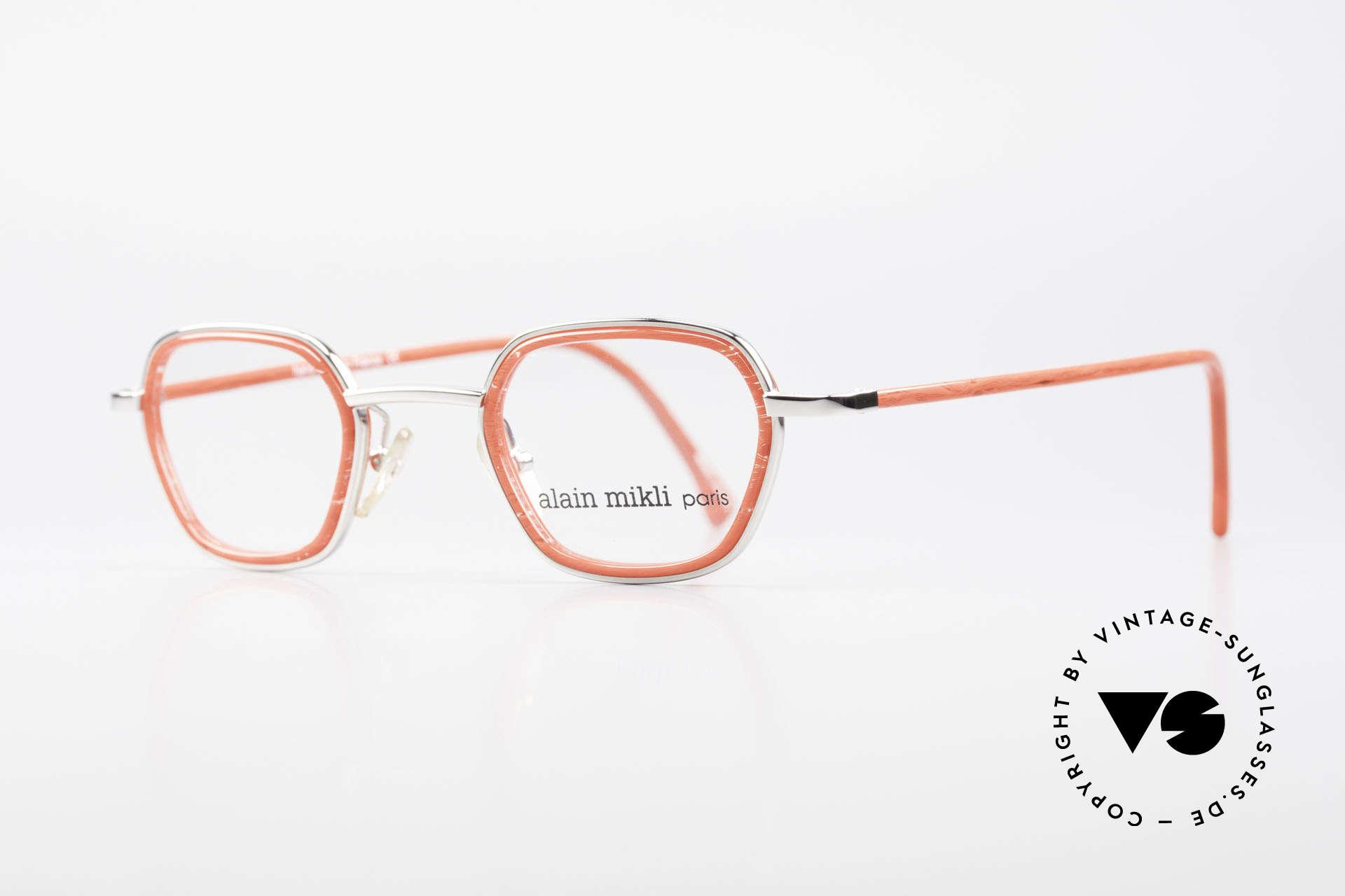 Alain Mikli 1642 / 1006 Vintage Brille In Mikli Rot, ein außergewöhnliches vintage Modell für Damen, Passend für Damen