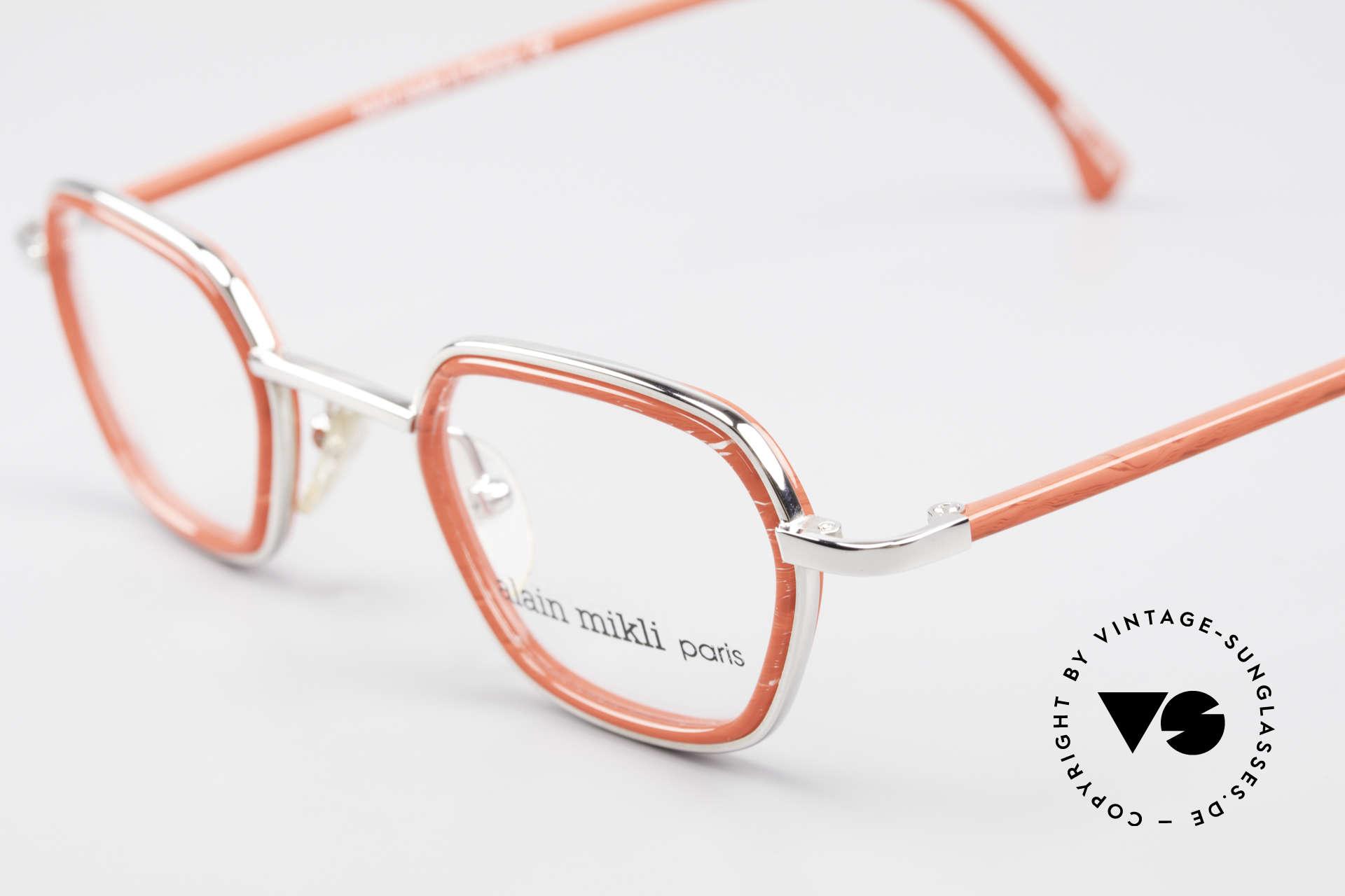 Alain Mikli 1642 / 1006 Vintage Brille In Mikli Rot, ungetragenes Einzelstück (wie alle unsere Miklis), Passend für Damen