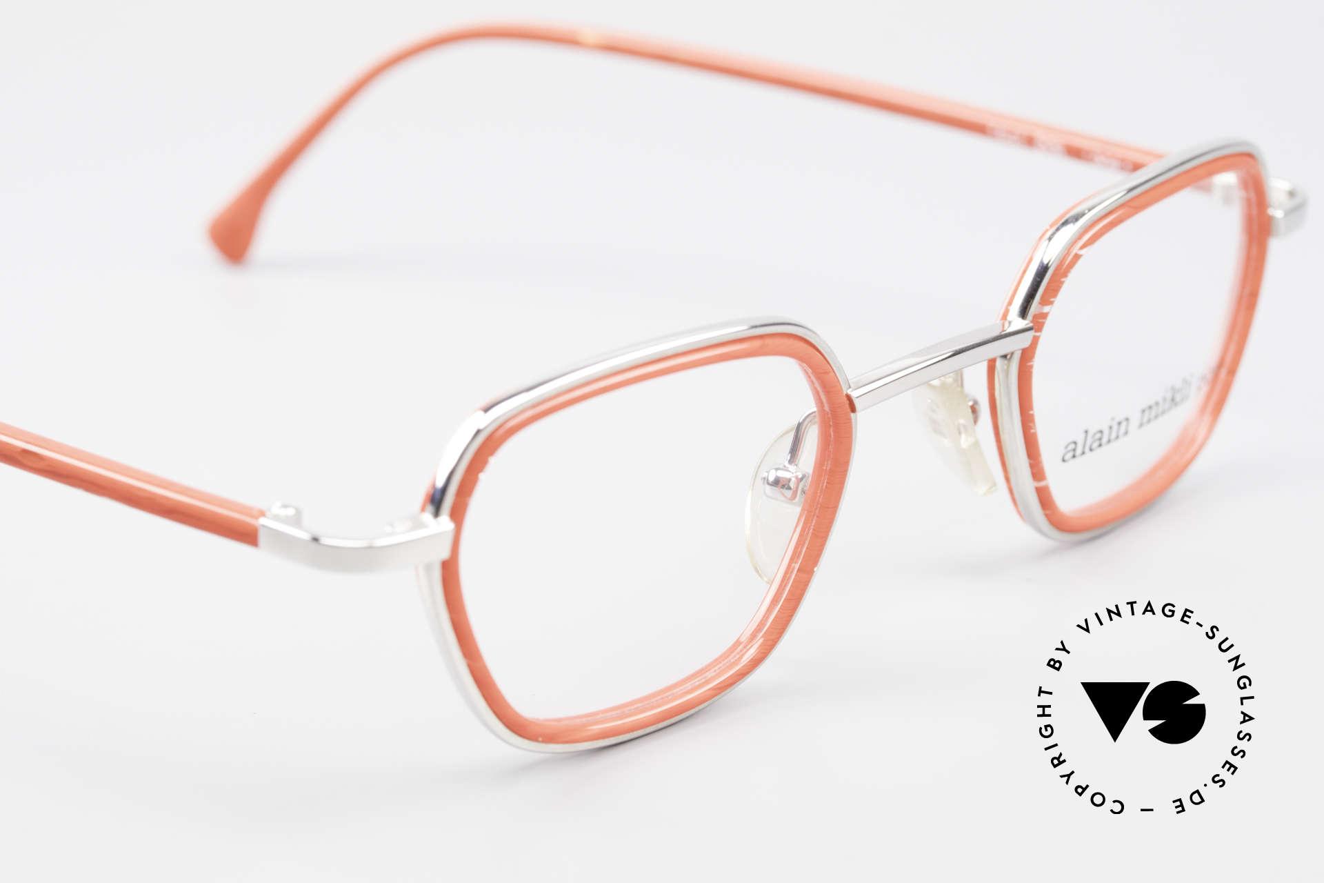 Alain Mikli 1642 / 1006 Vintage Brille In Mikli Rot, KEINE Retromode, sondern ein altes 90er Original, Passend für Damen