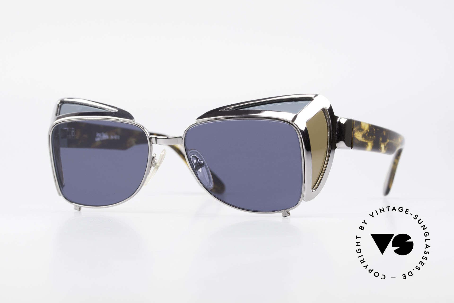 Jean Paul Gaultier 56-9272 Steampunk Sonnenbrille JPG, einzigartige Sonnenbrille von Jean Paul Gaultier, Passend für Herren